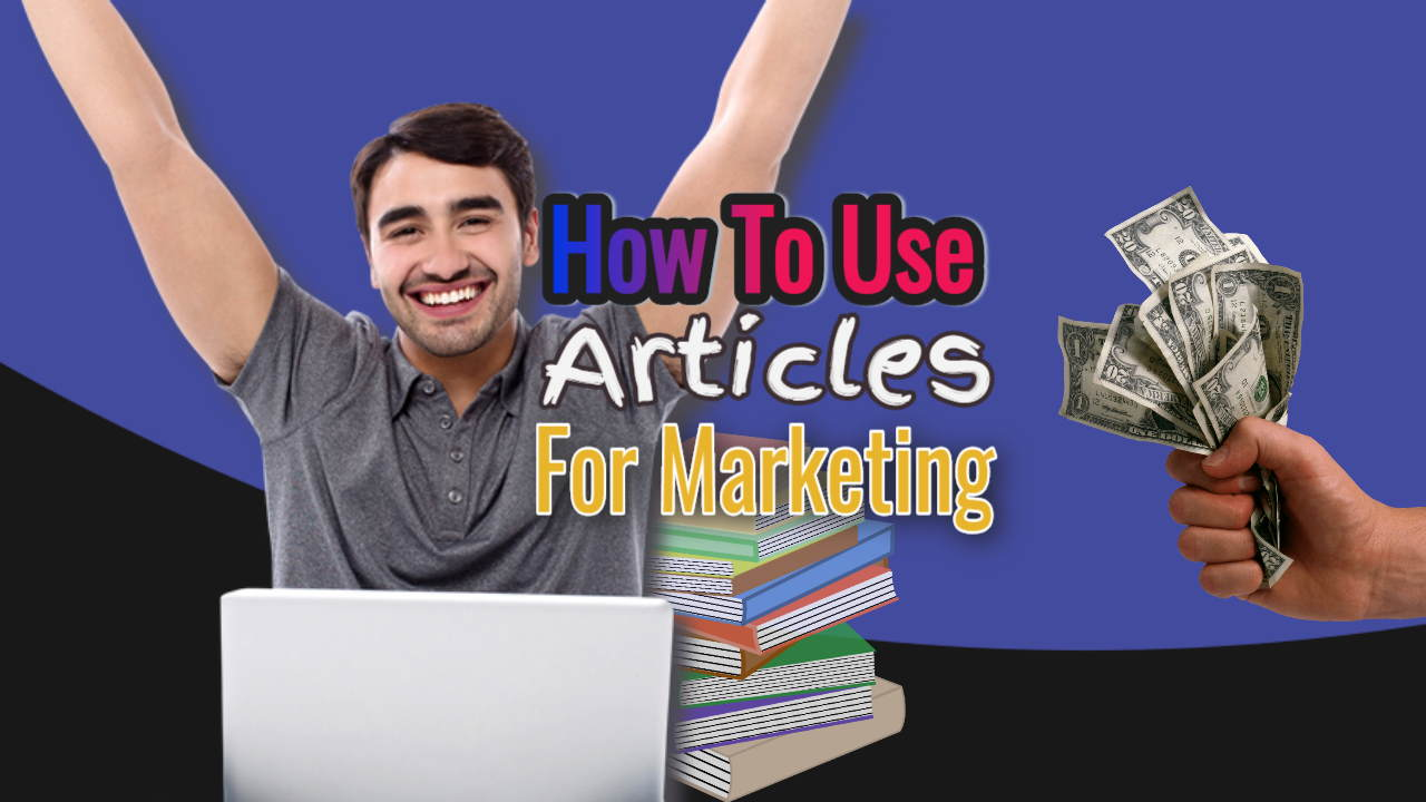 """Image with the text: """"How to use articles for marketing""""."""