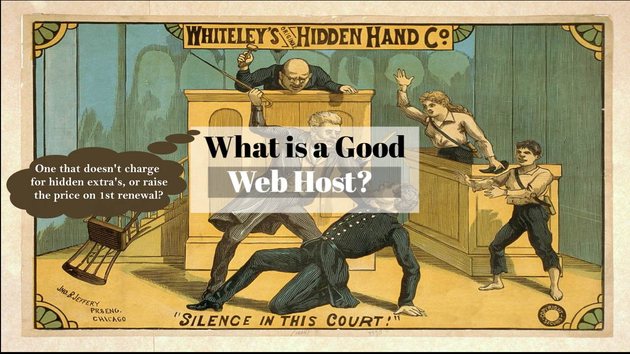 Featured image bearing the text: What is a good web host?