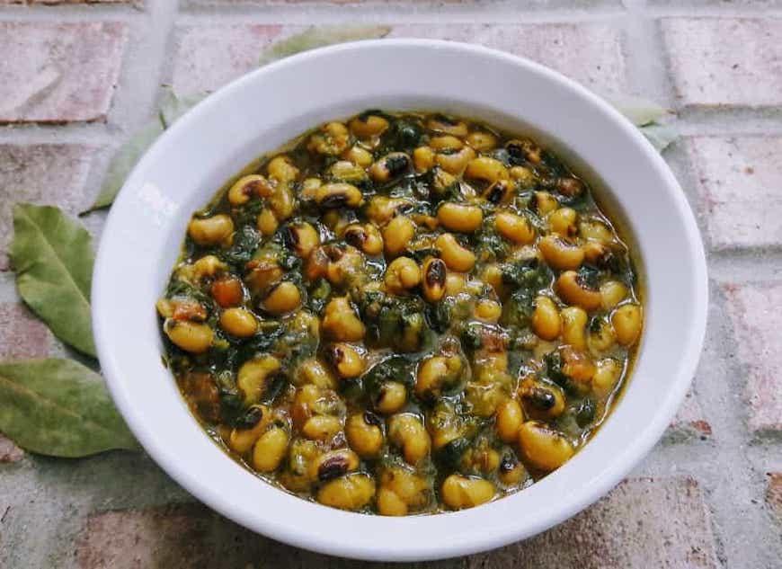 black-eyed pea spinach stew