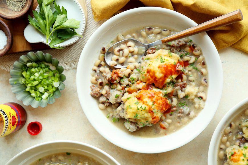 black-eyed peas and dumplings