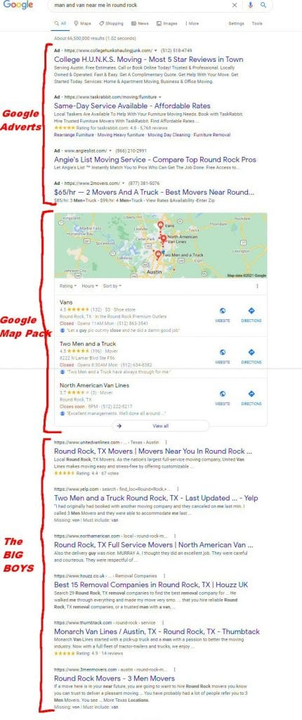 The Google Map pack