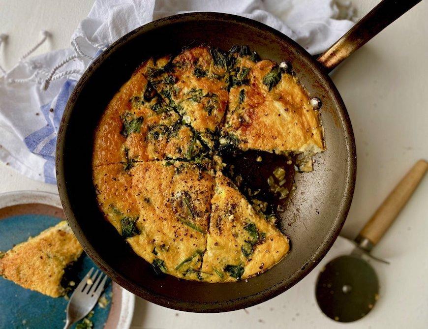 cheesy spinach fritatta