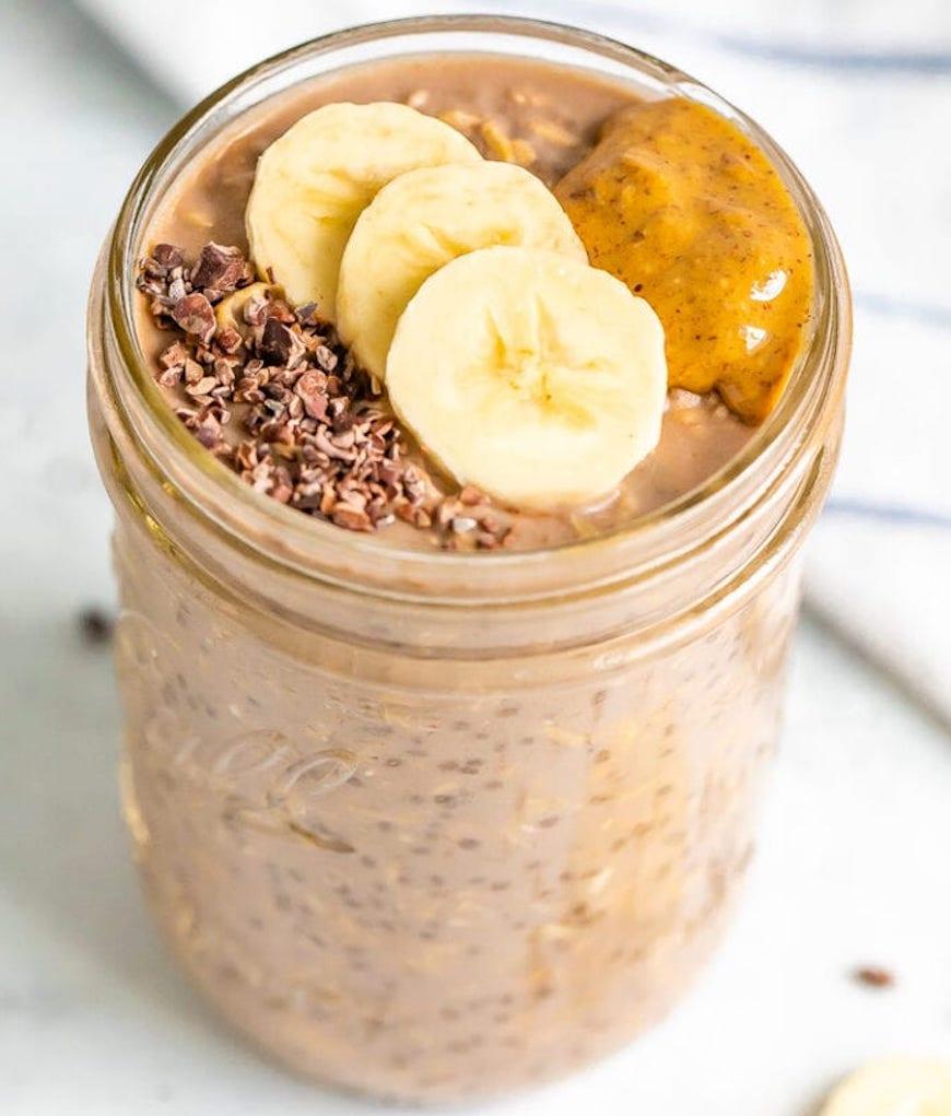 chocolate banana overnight oats recipe