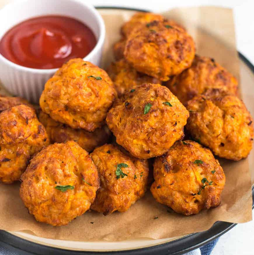 carrots and cheese balls
